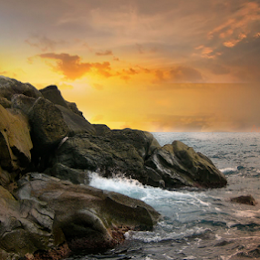 Cinqueterre by Ändreas Bagio - Landscapes Beaches ( nature, waterscape, sunset, beach, landscapes )
