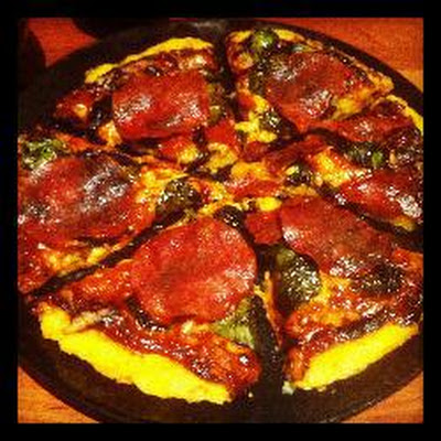 Pick-up-able Dairy And Gluten Free Polenta Pizza Base
