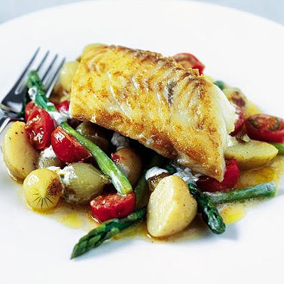 Sautéed Haddock With Summer Veg