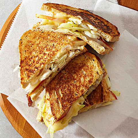 Muenster, Cabbage, and Apple Sandwiches