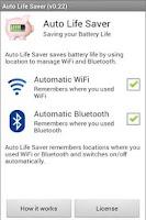 Screenshot of Auto WiFi + Bluetooth Battery