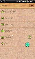 Screenshot of GO SMS Sweet Pinboard Theme