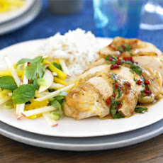 Thai Roast Chicken With Mango & Apple Salad