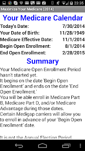 Maximize Your Medicare 2014 - screenshot