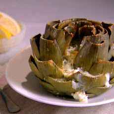 Baked Artichokes with Gorgonzola and Herbs