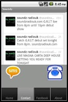 Screenshot of Soundz Radio UK