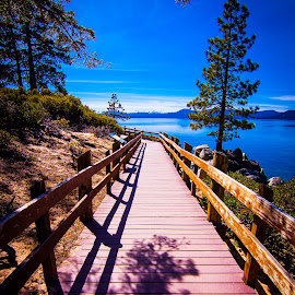 Sand Harbor State Park by Becca McKinnon - City,  Street & Park  Vistas ( water, nevada, boardwalk, sand harbor, lake tahoe )