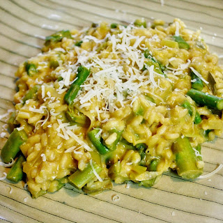 Leek And Asparagus Risotto