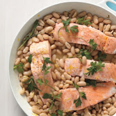 Salmon with White Beans