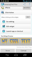 Screenshot of AmazingText FREE - Text Widget