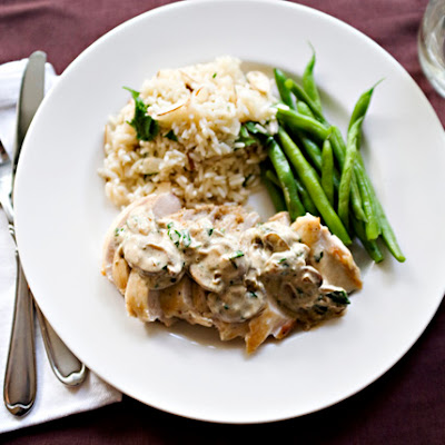 Chicken with Boursin Mushroom Sauce