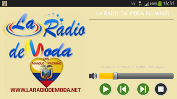 Screenshot of LA RADIO DE MODA ECUADOR