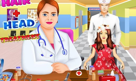 Hair and head doctor free game - screenshot