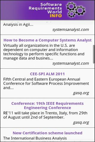 Software Requirements Info