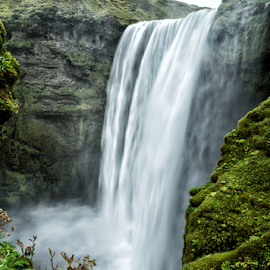 Falls by Kevin Denton - Landscapes Waterscapes ( iceland, waterscape, waterfall, skogafoss, landscape, skogafoss falls iceland )