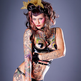 Aima by Terry Mendoza - People Body Art/Tattoos ( alternative, tattoo, aima indigo, person, people )