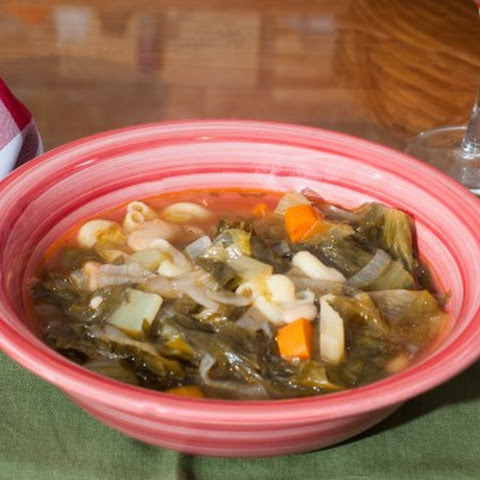 Escarole Soup with Pasta and Beans