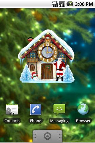 クリスマスハウスクロック