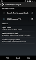 Screenshot of Eloquence Text To Speech