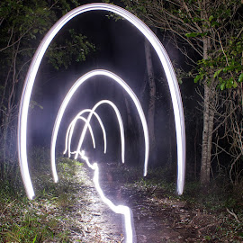 Light the way by Luke Booth - Abstract Light Painting