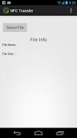 Screenshot of NFC Transfer Beta