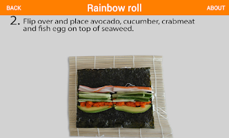Screenshot of Flickfood Sushi Recipes