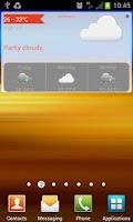 Screenshot of WeatherLah