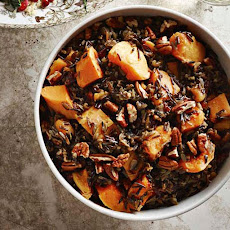 Wild Rice Pilaf with Dried Cherries, Apricots and Butternut Squash
