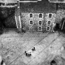 Dover Castle by Greg Brzezicki - Buildings & Architecture Places of Worship ( b&w, castle, blur, day, people,  )