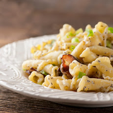 Pasta with Buttered Sour Cream and Bacon Sauce
