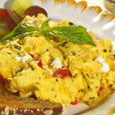 Cheesy Mediterranean Scramble