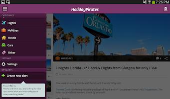 Screenshot of HolidayPirates