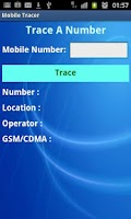 Screenshot of Mobile Tracer