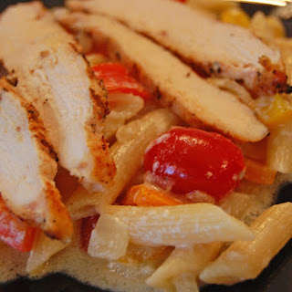 Pepper Patch Pasta with Grilled Chicken