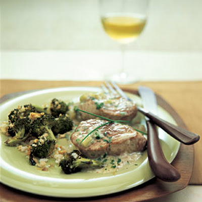 Pork Medallions with Mustard-Chive Sauce