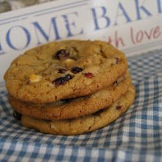 White Chocolate, Cranberry and Pecan cookies