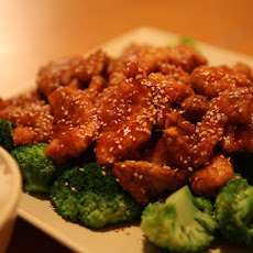 Sesame Chicken with Broccoli and Snow Peas
