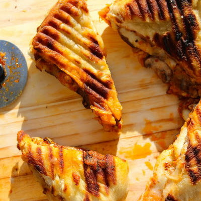 Grilled Pizza Panini Sandwich