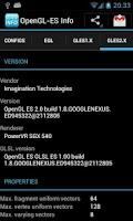 Screenshot of OpenGL-ES Info