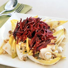 Pickled Beet and Endive Salad with Goat Cheese and Walnuts