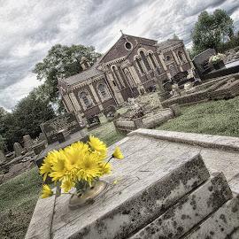 Saint John's Church, Brockmoor, Brierley Hill, UK by Roy Branford - Buildings & Architecture Places of Worship ( church, gravestones, grave, topaz labs, graveyard, photoshop )
