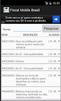 Screenshot of Fiscal Mobile Brasil