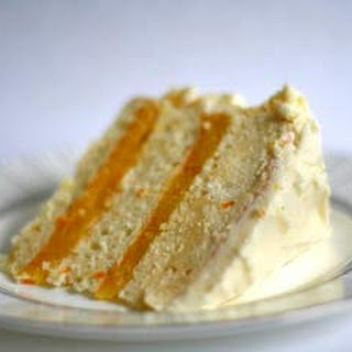 Triple-Layer White Cake with Orange Curd Filling