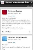 Screenshot of Utusan Malaysia Online