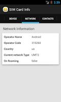 Screenshot of SIM Card Info
