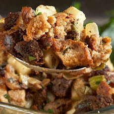 Brown Bread Stuffing with Chestnuts, Apples, and Sausage Recipe