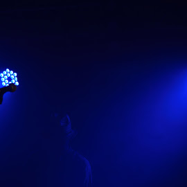 Mystery Man by Chris Adams - People Musicians & Entertainers ( blue light, mystery, blue, the stage, belladrum,  )