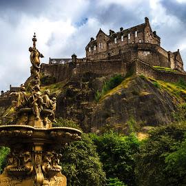 Edinburgh - Castle by Lukas Proszowski - City,  Street & Park  Historic Districts ( scotland, edinburgh, old town, castle, city )