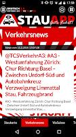 Screenshot of Stauapp Traffic-Cams German
