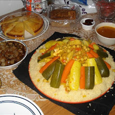 Moroccan Ramadan Couscous With Meat and Veggies